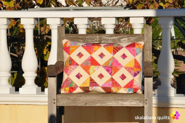 cushion cover red - skalabara quilts