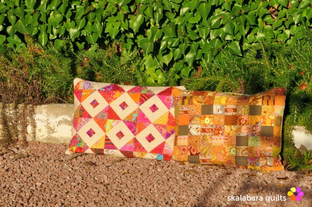 cushion cover red orange - skalabara quilts