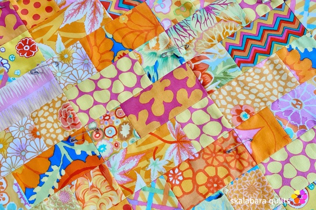 cushion cover yellow detail - skalabara quilts