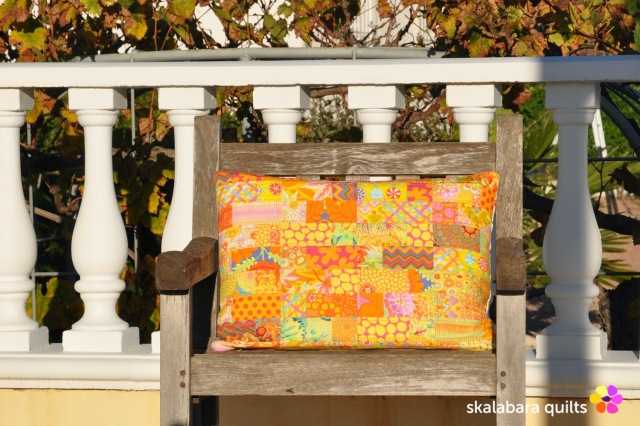 cushion cover yellow - skalabara quilts