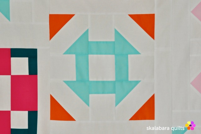 modern sampler - churn dash - skalabara quilts