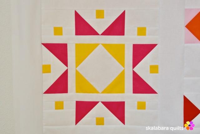 modern sampler - tiled stars - skalabara quilts