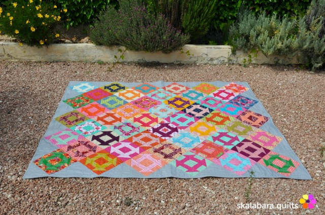 churn dash quilt 2 - skalabara quilts