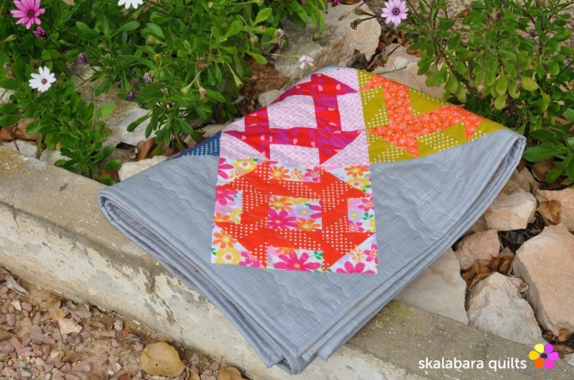churn dash quilt binding 1 - skalabara quilts
