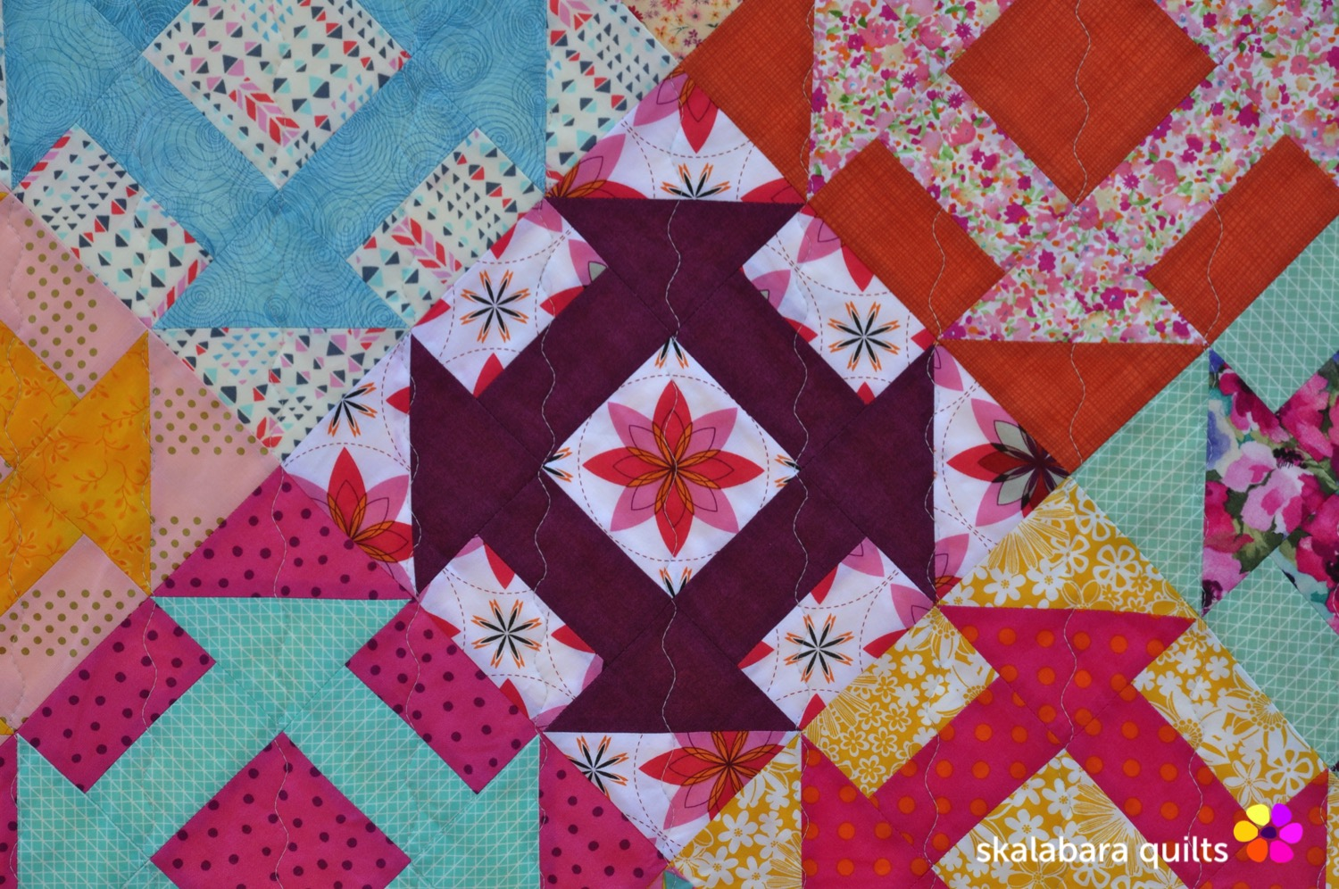 churn dash quilt detail 1 - skalabara quilts