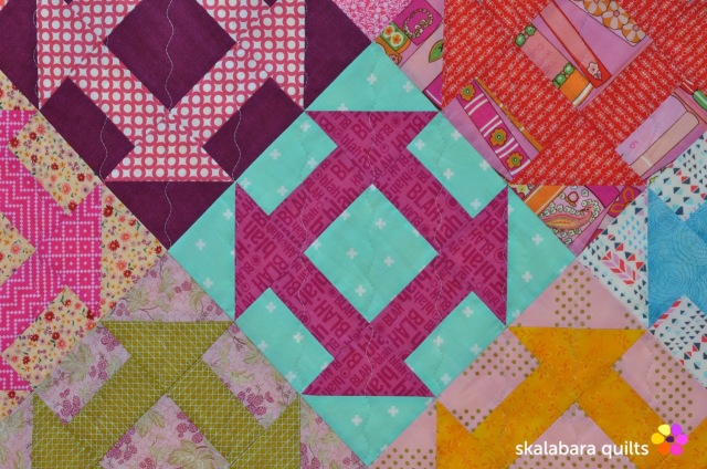 churn dash quilt detail 2 - skalabara quilts