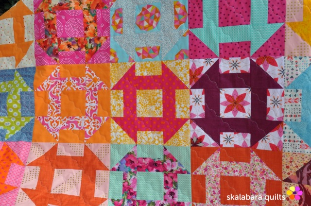 churn dash quilt detail 4 - skalabara quilts