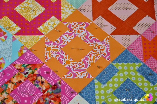 churn dash quilt sandwich 4 - skalabara quilts