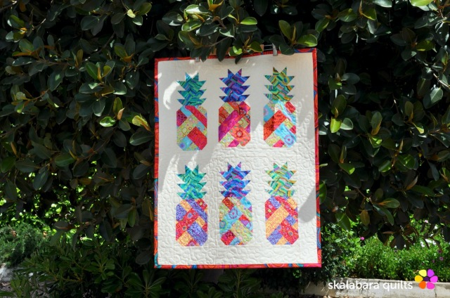 pineapple wall hanging 1 - skalabara quilts
