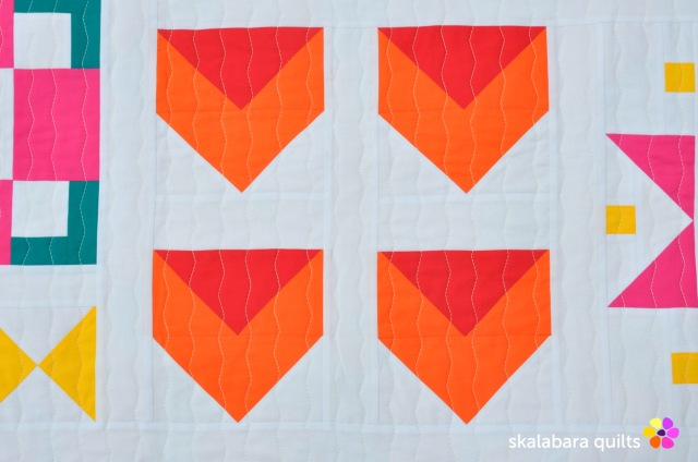 modern sampler detail 2 - skalabara quilts