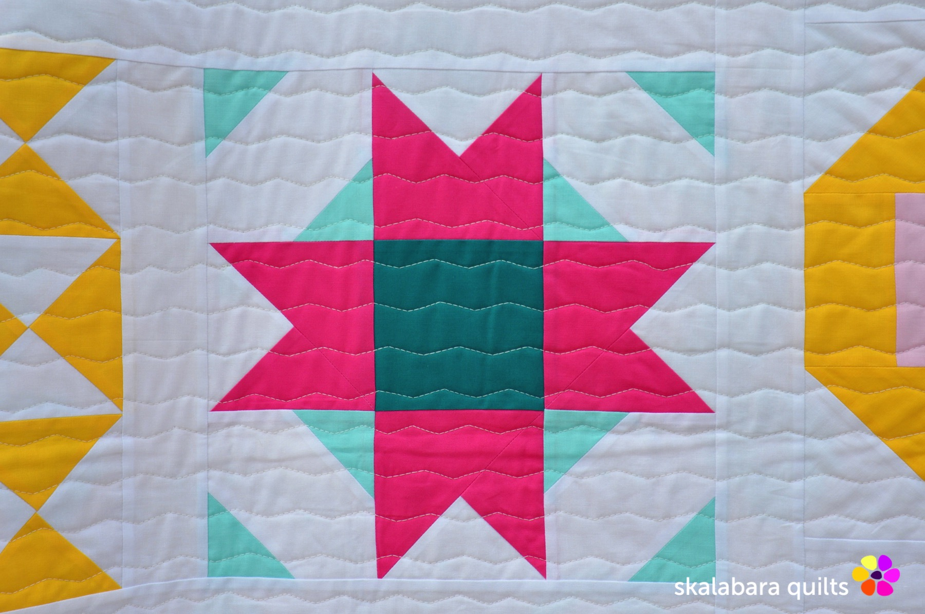 modern sampler detail 3 - skalabara quilts