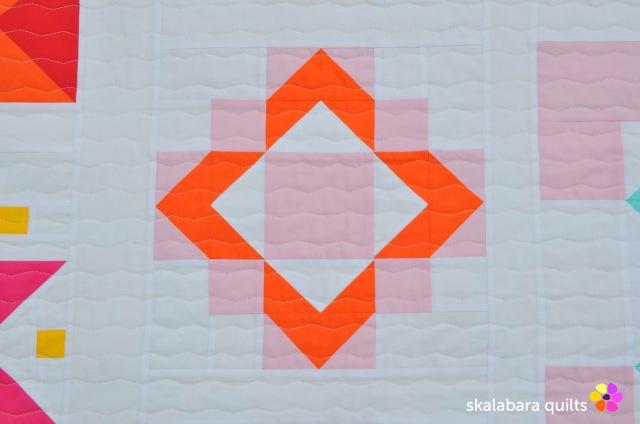 modern sampler detail 4 - skalabara quilts