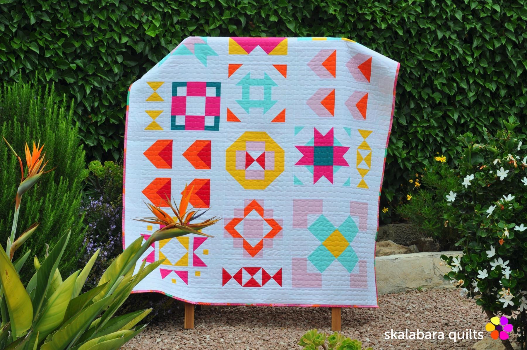 modern sampler quilt 2 - skalabara quilts