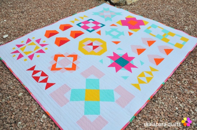 modern sampler quilt 6 - skalabara quilts