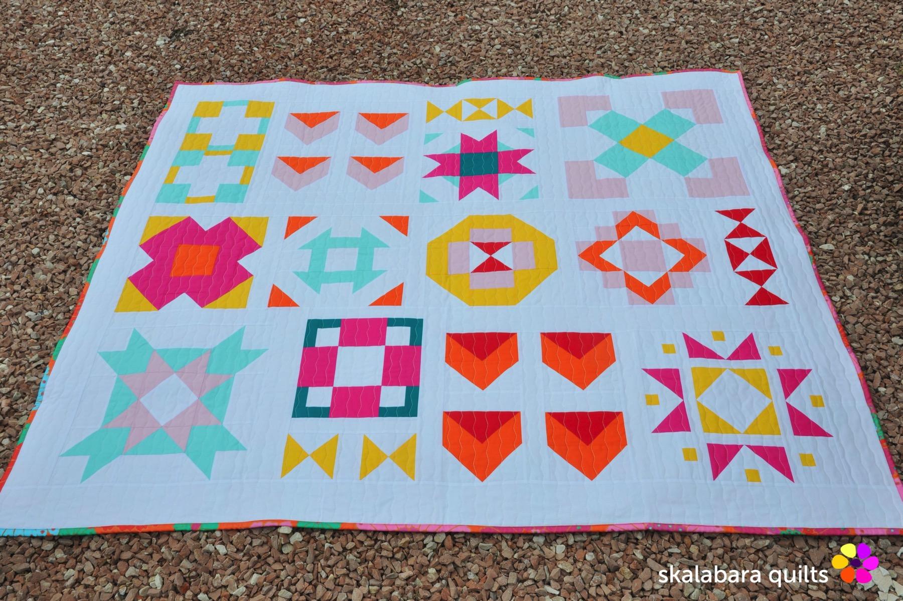 modern sampler quilt 8 - skalabara quilts