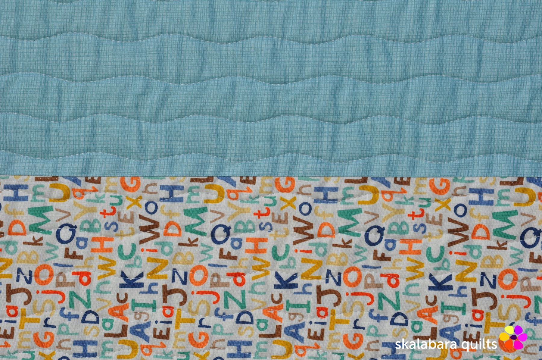 train quilt backing 2 - skalabara quilts