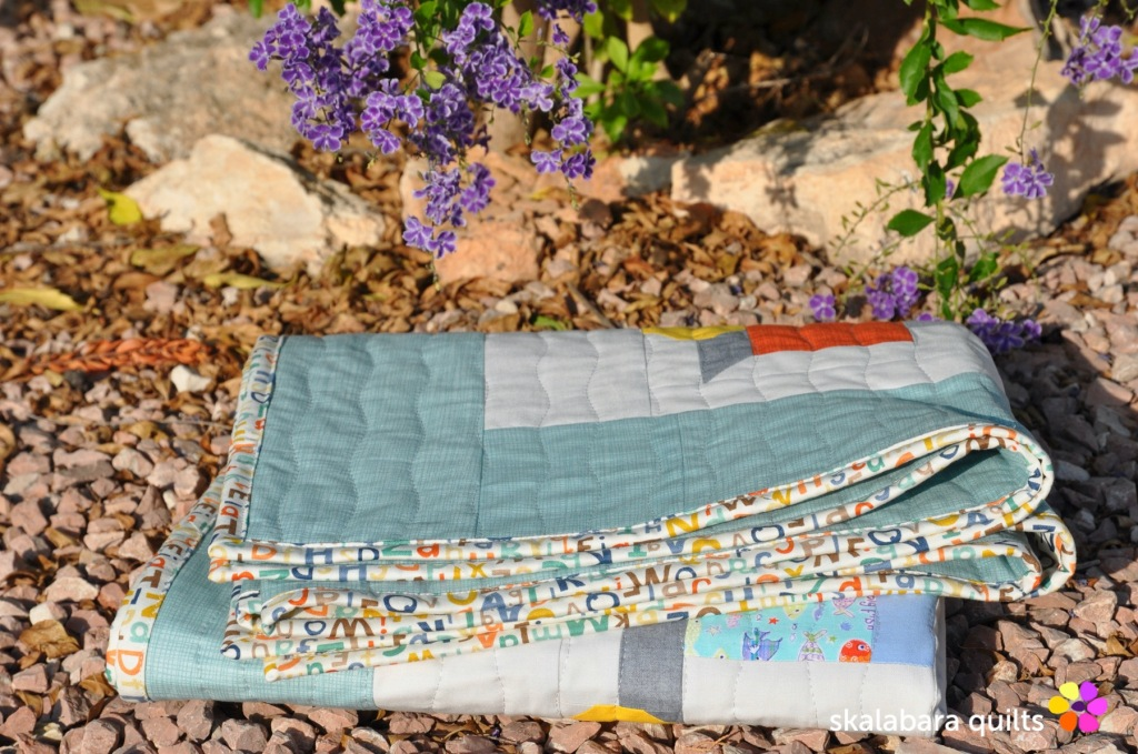 train quilt binding 1 - skalabara quilts