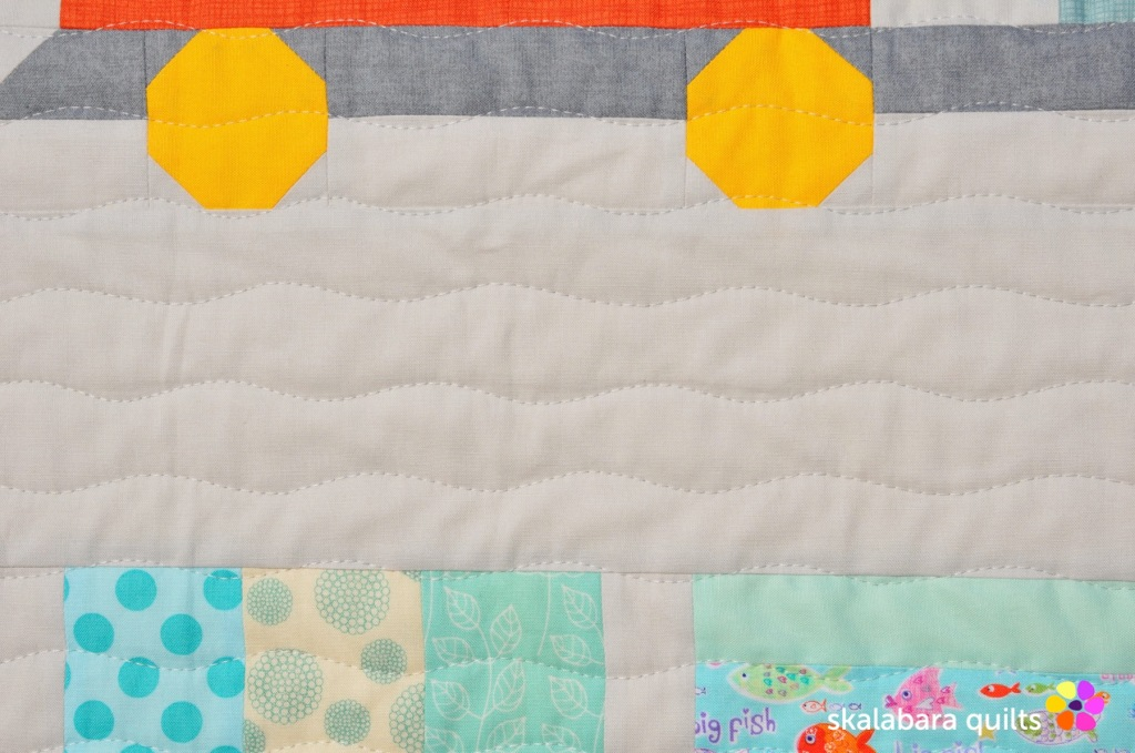 train quilt quilting 3 - skalabara quilts