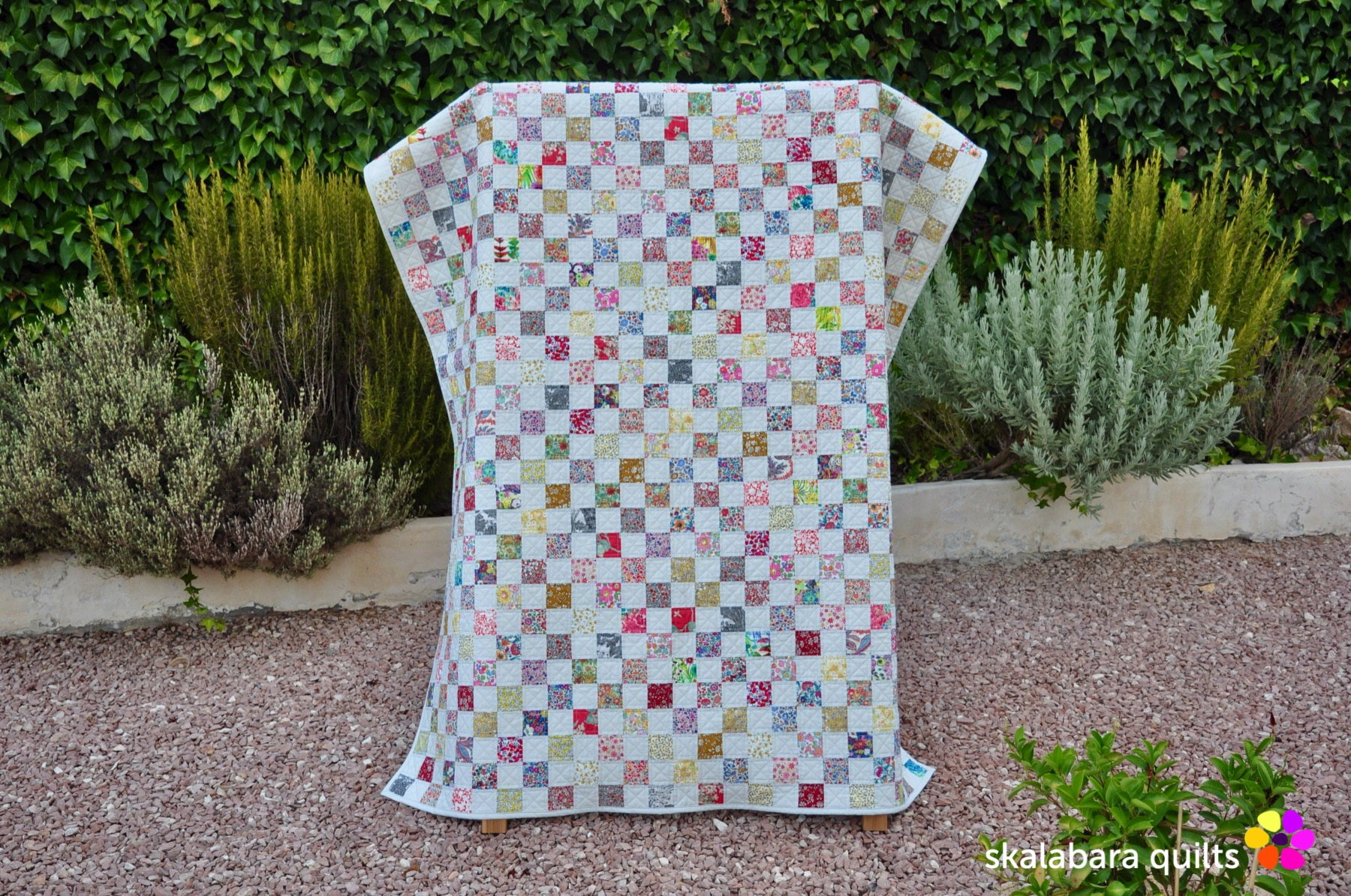 liberty checkered quilt 1 - skalabara quilts