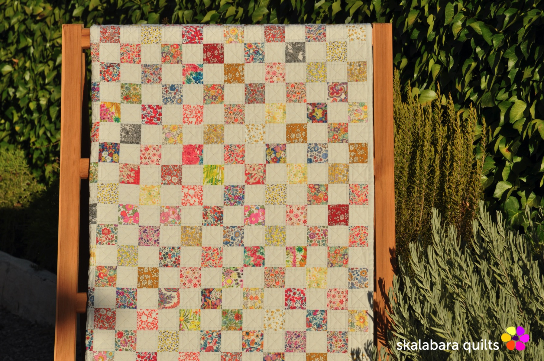 liberty checkered quilt 3 - skalabara quilts