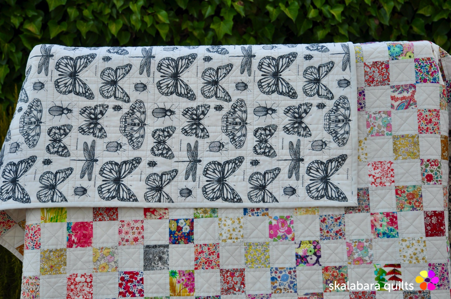 liberty checkered quilt backing 1 - skalabara quilts