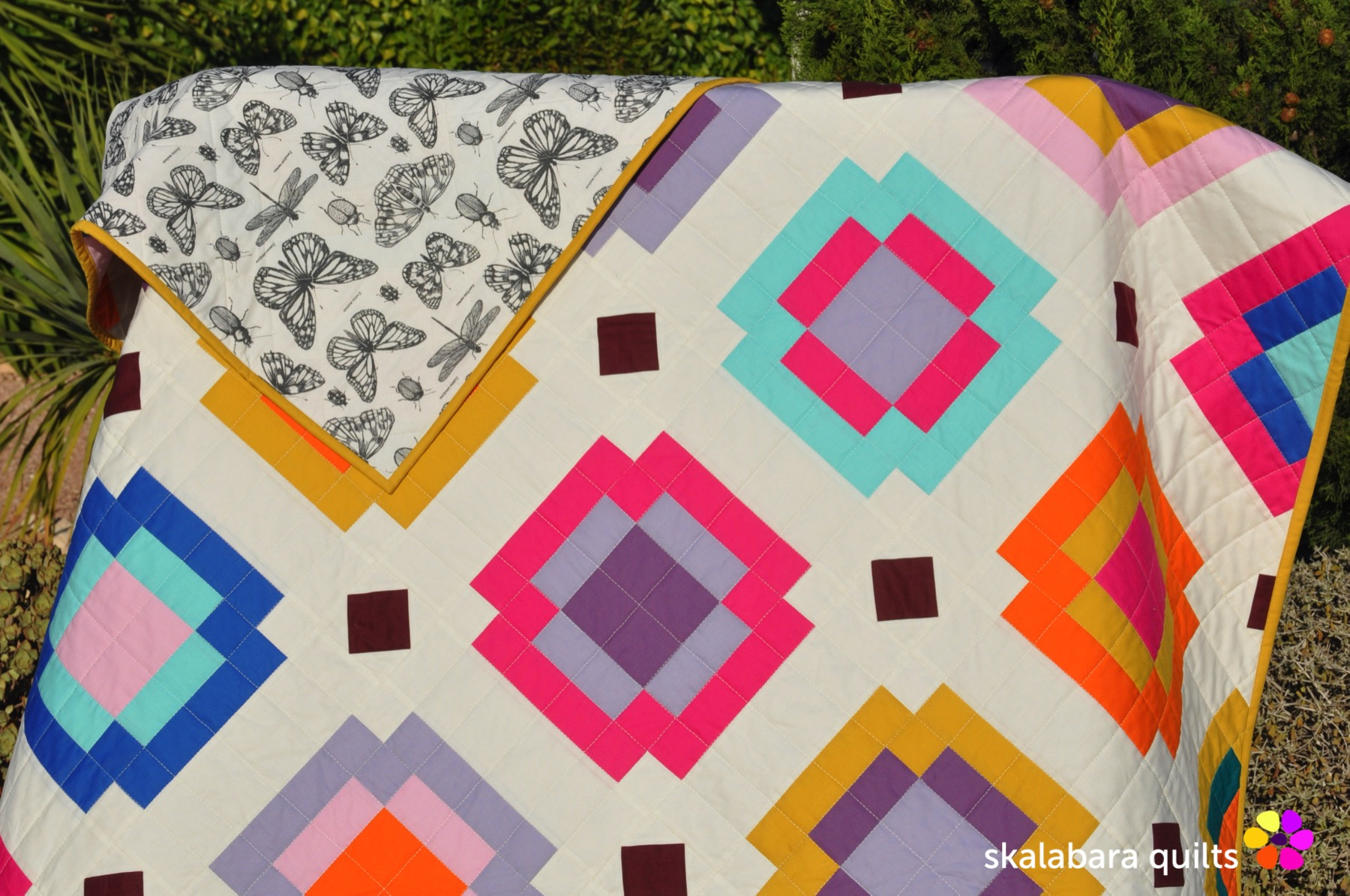 radiate quilt backing 5 - skalabara quilts