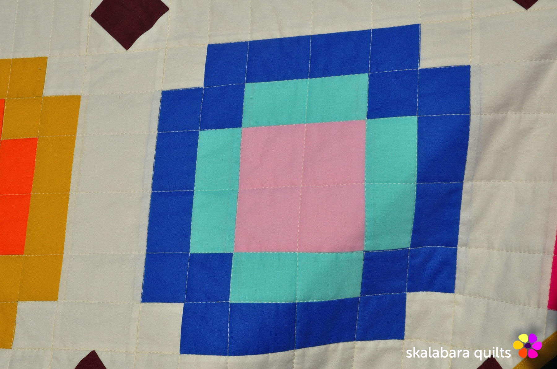 radiate quilt detail 1 - skalabara quilts