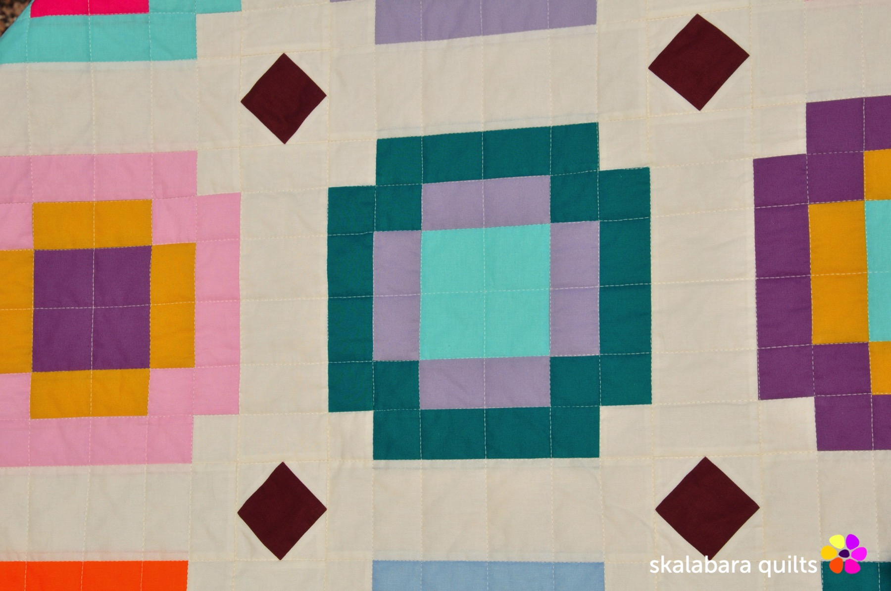 radiate quilt detail 3 - skalabara quilts
