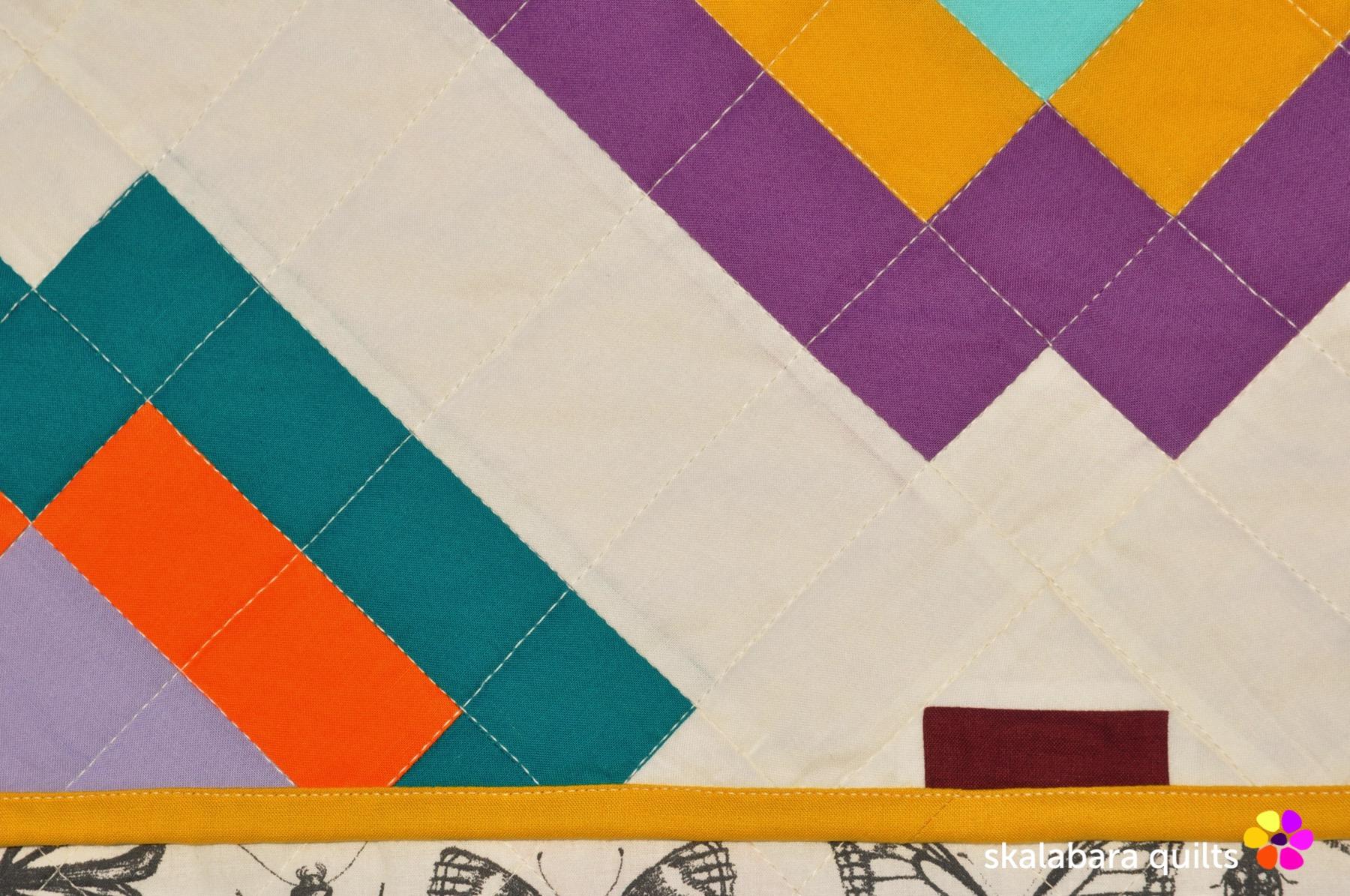 radiate quilt detail 5 - skalabara quilts