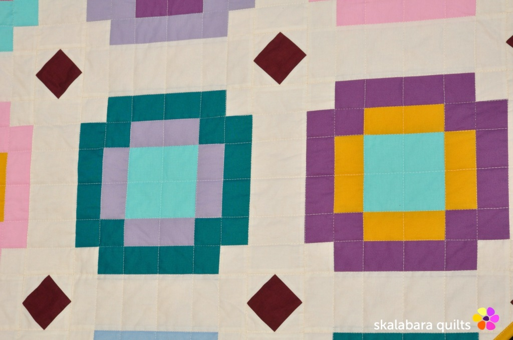 radiate quilt detail 6 - skalabara quilts