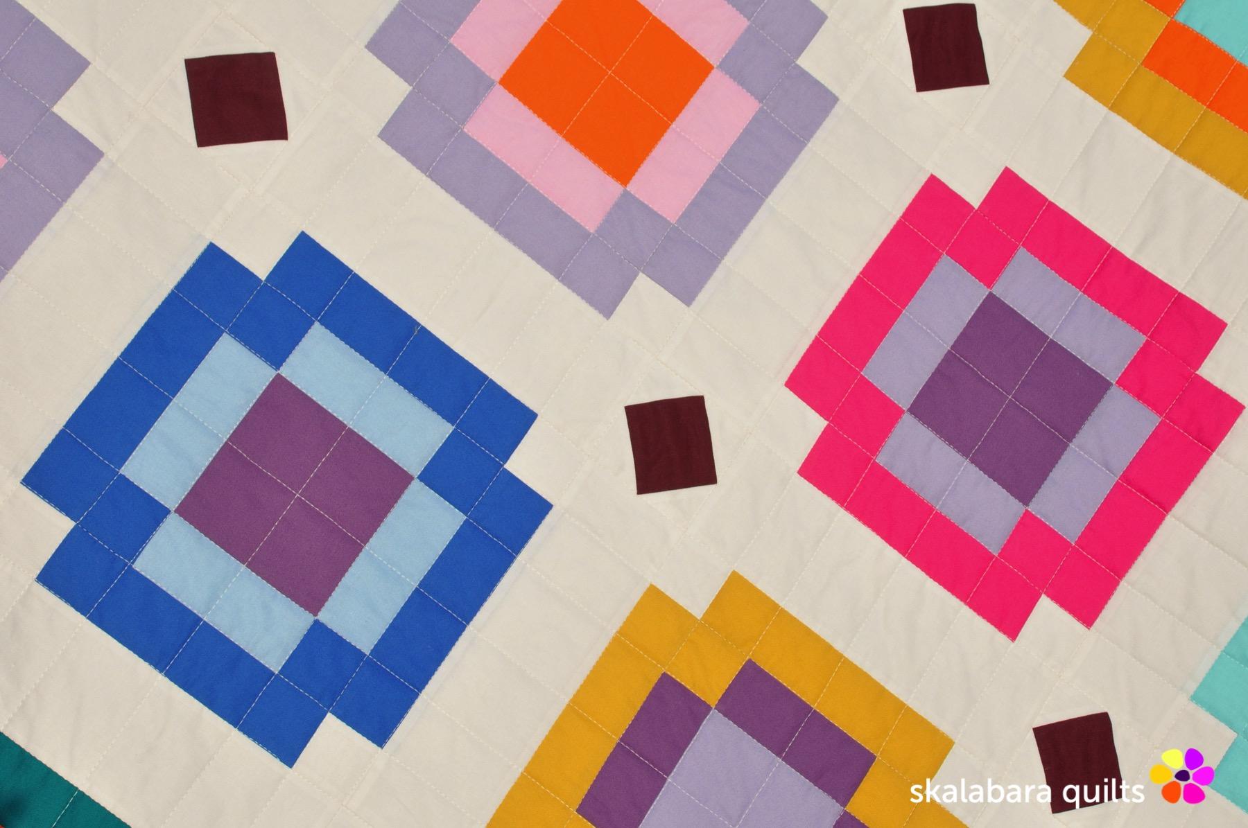 radiate quilt detail 7 - skalabara quilts