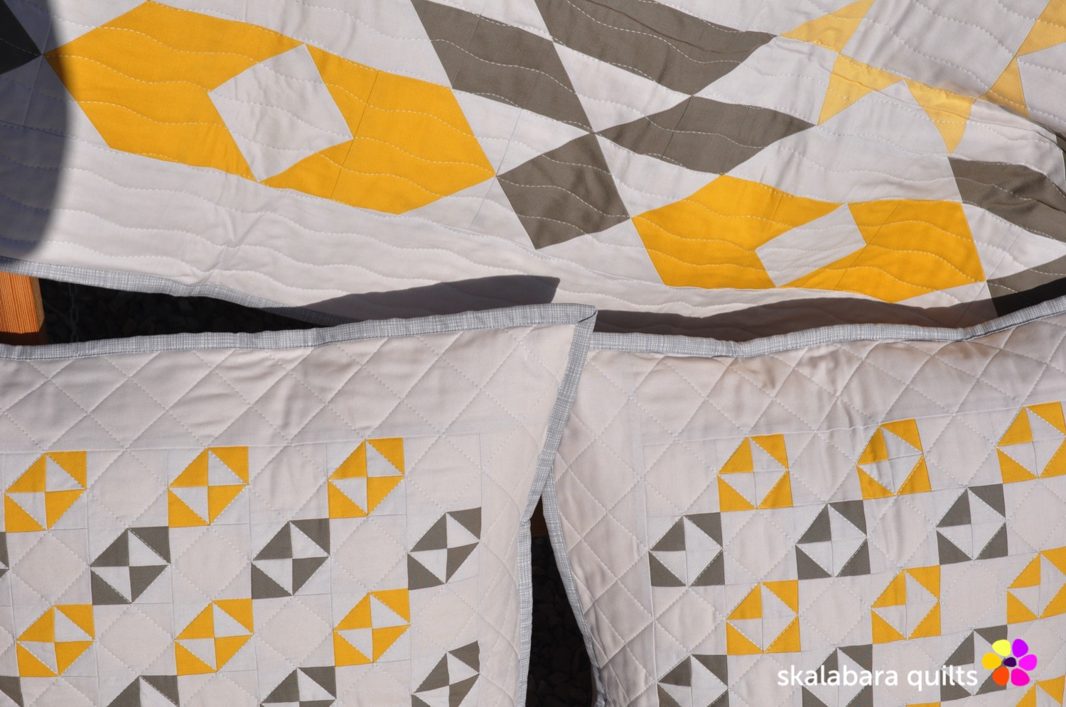matching cushion covers to atmosphere quilt - skalabara quilts