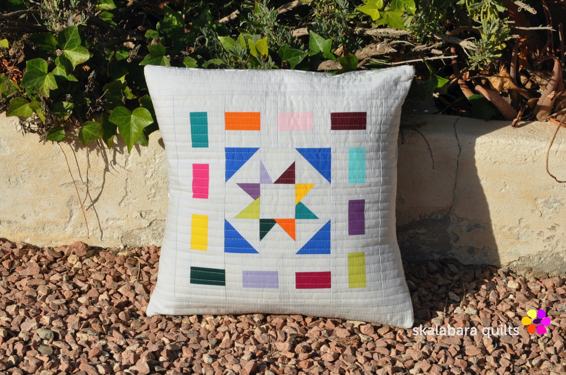 colorful cushion covers - skalabara quilts