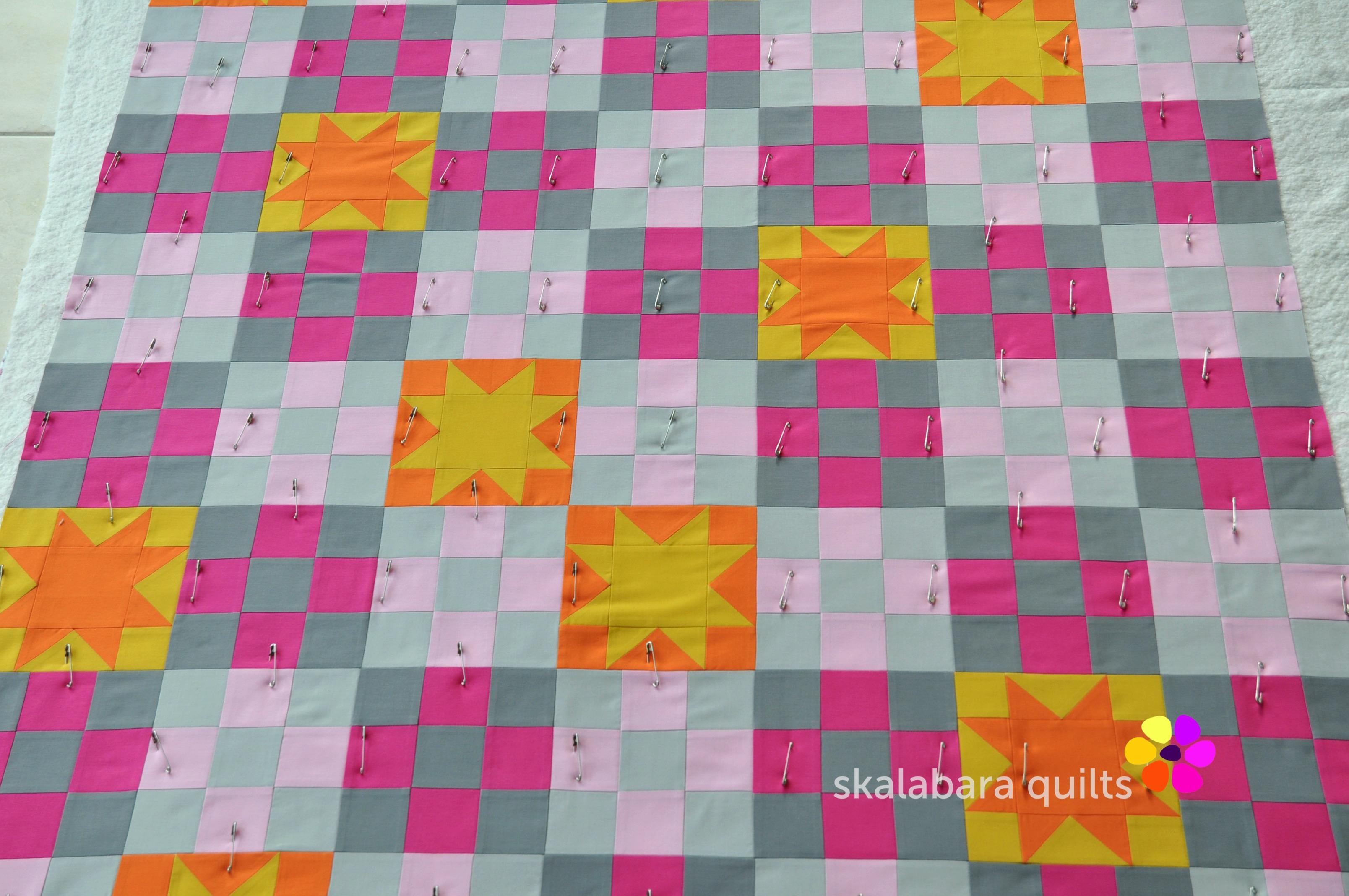 21 Q campfire glow pinning 1 - skalabara quilts
