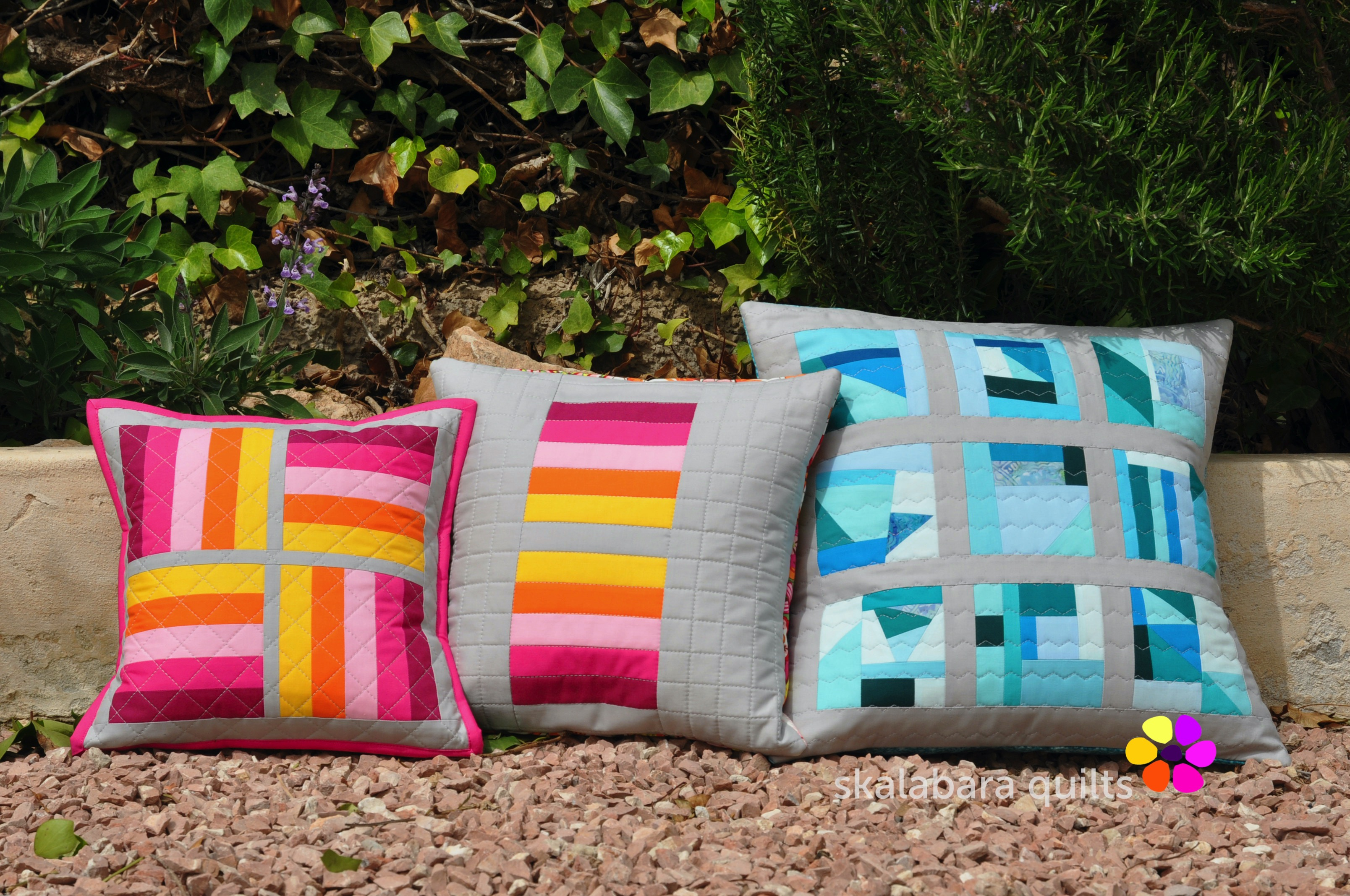april cushions 2 - skalabara quilts