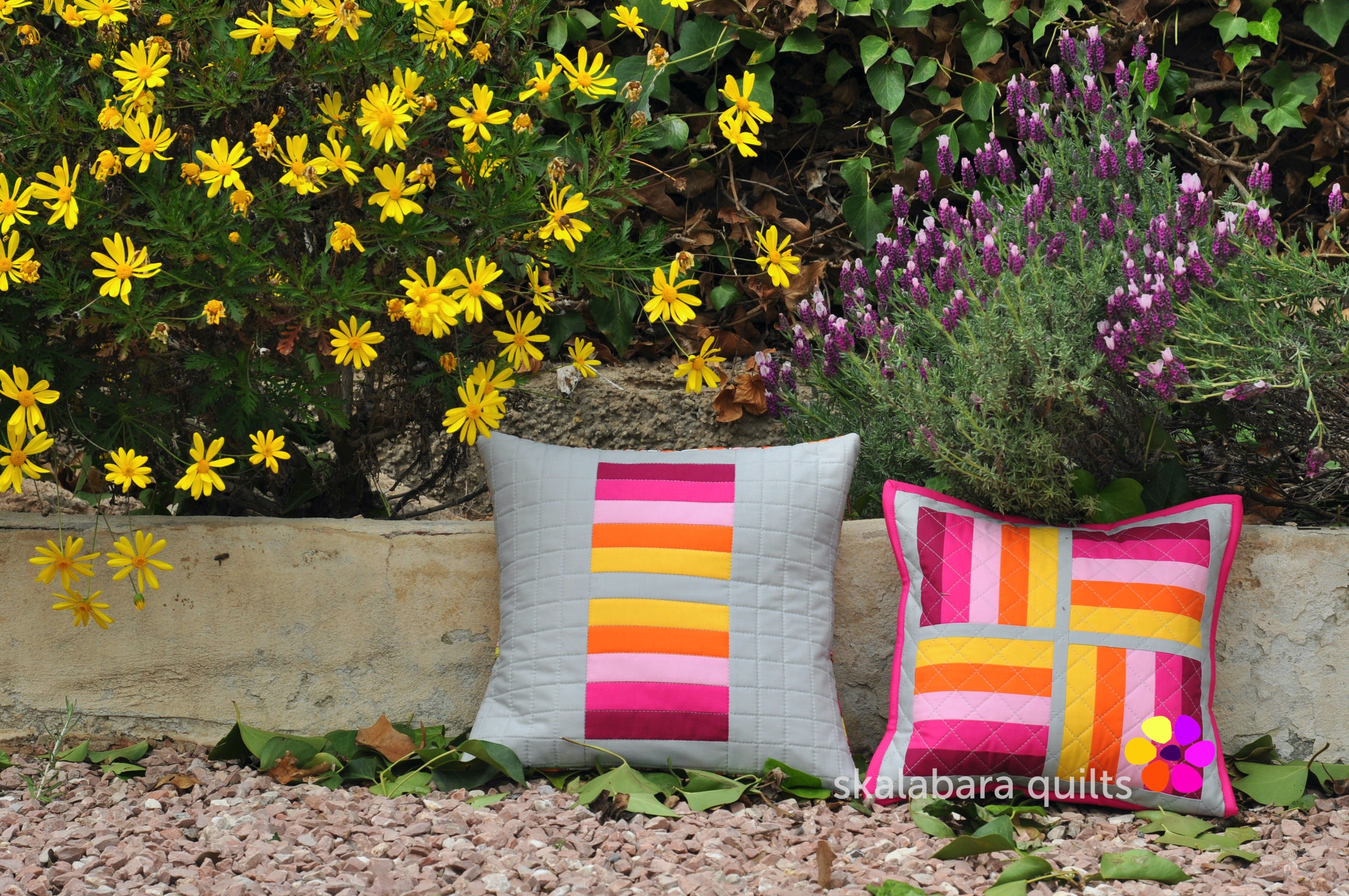 april pinkie cushions 1 - skalabara quilts