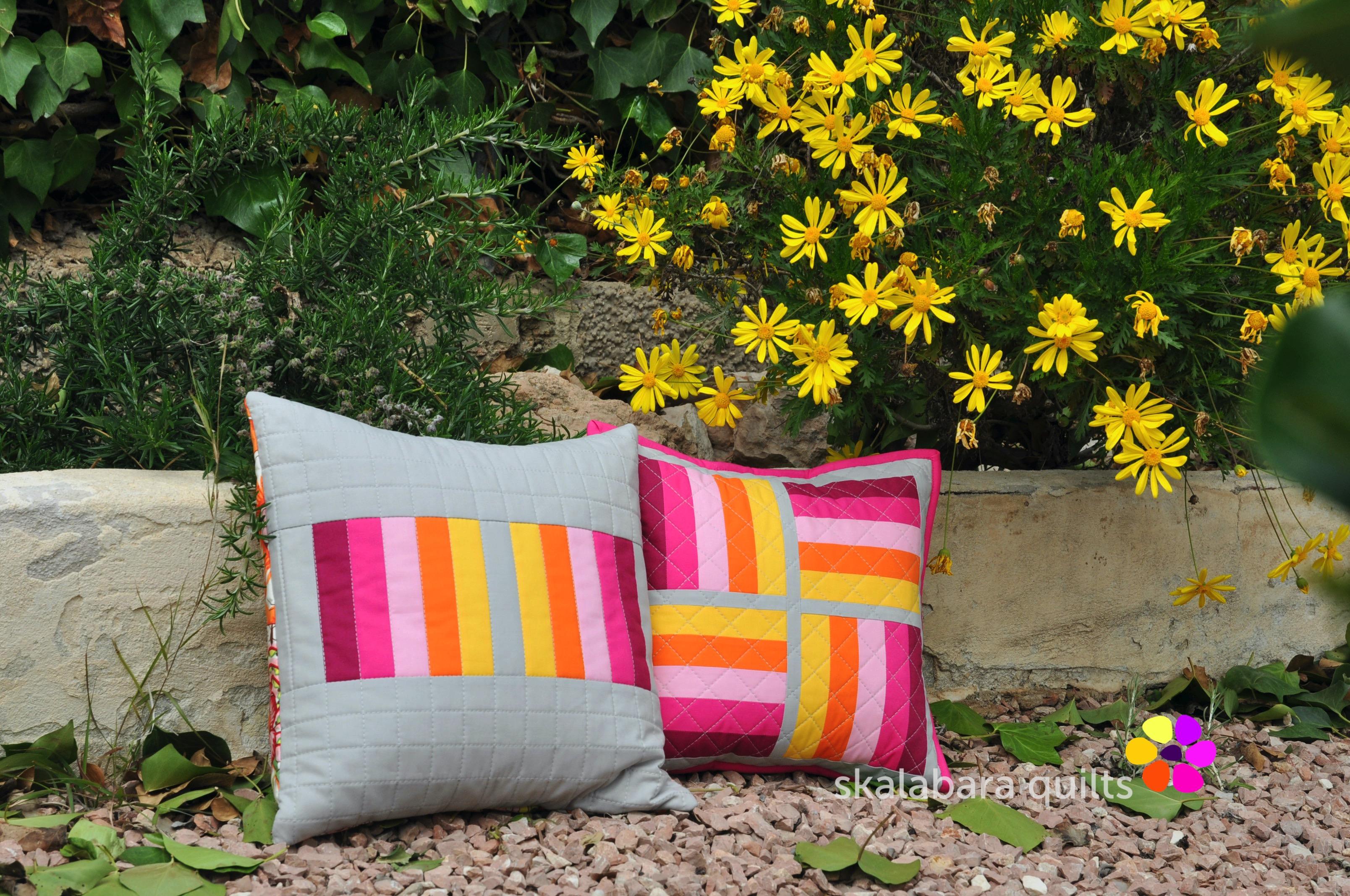 april pinkie cushions 2 - skalabara quilts