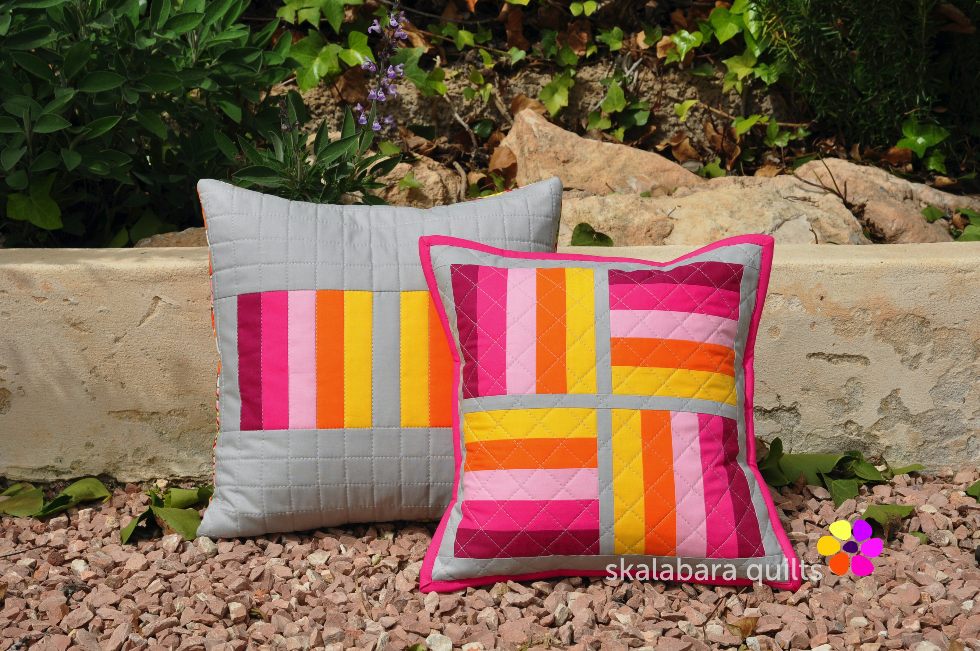 april pinkie cushions 3 - skalabara quilts