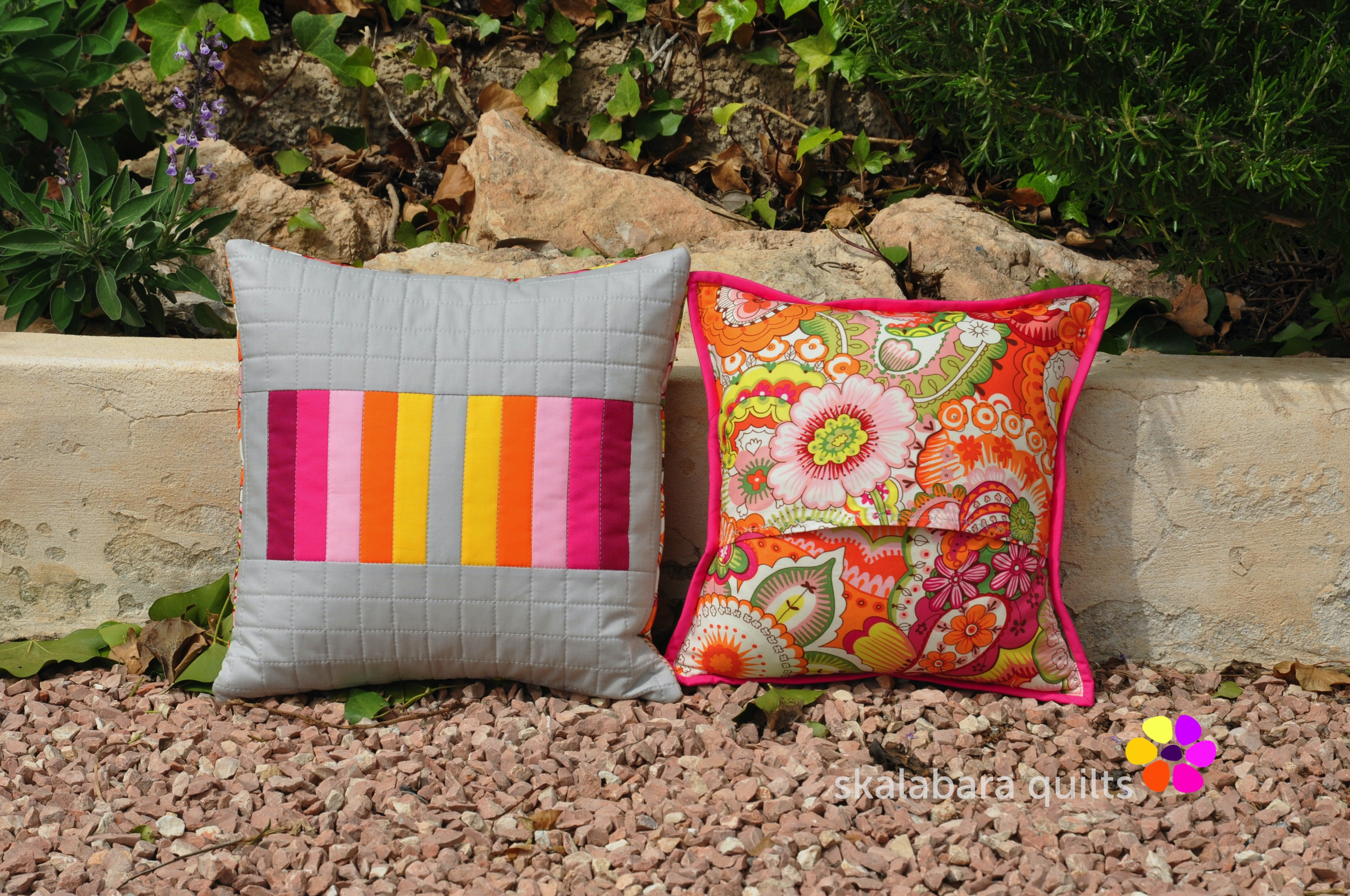 april pinkie cushions backing 1 - skalabara quilts