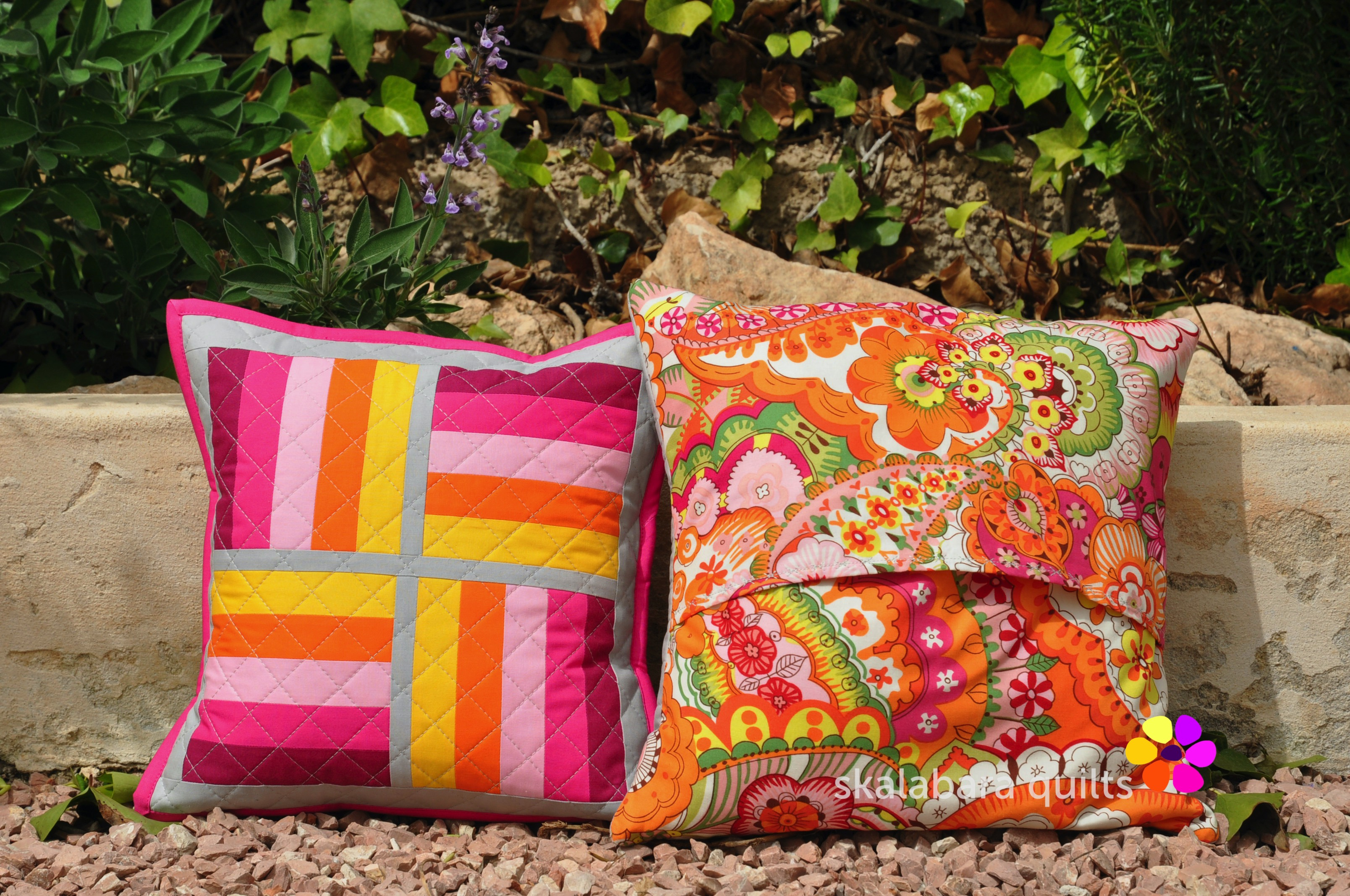 april pinkie cushions backing 2 - skalabara quilts