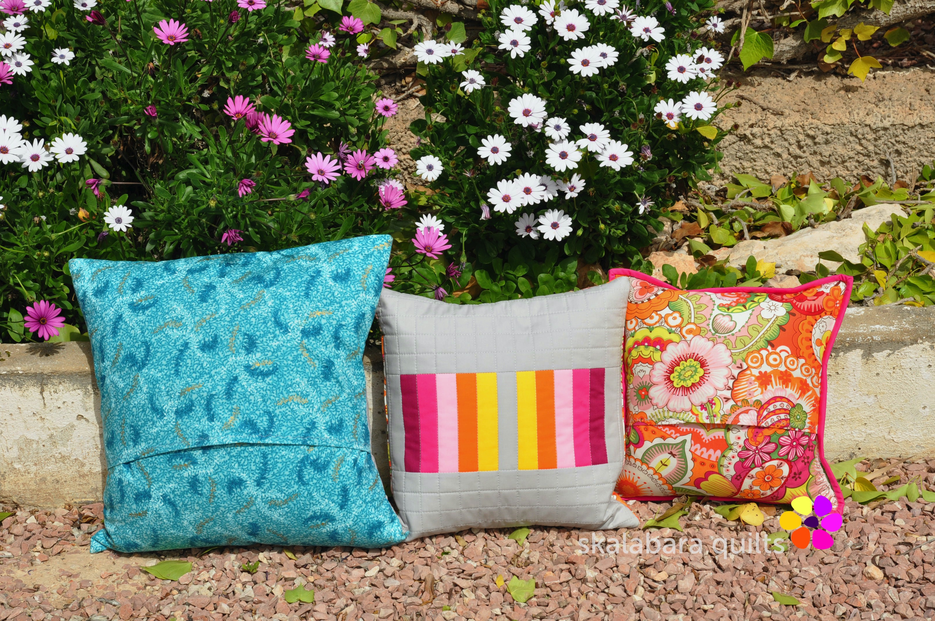 april turquoise cushion backing - skalabara quilts