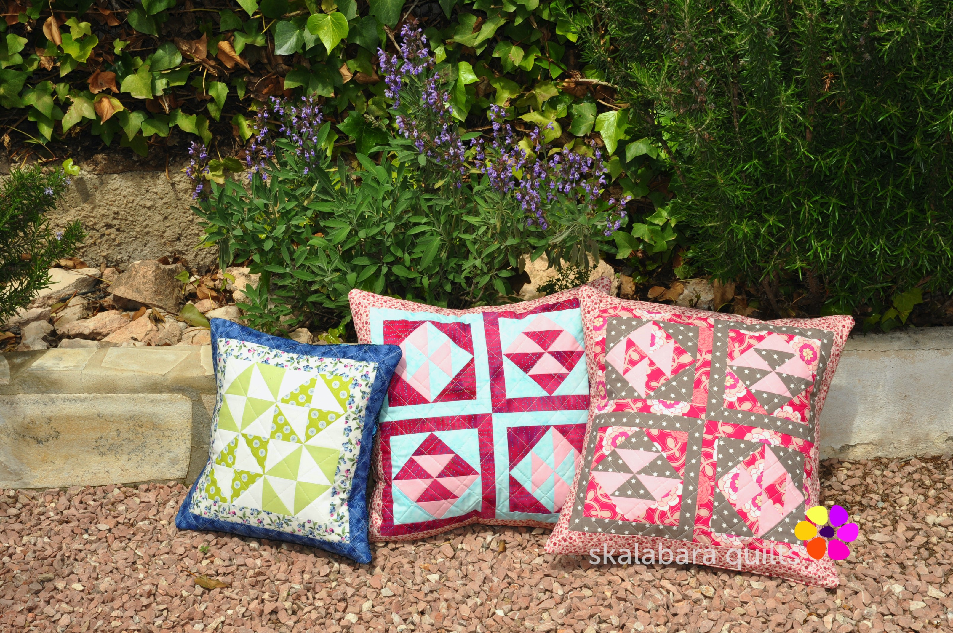 broken dishes cushions 1 - skalabara quilts