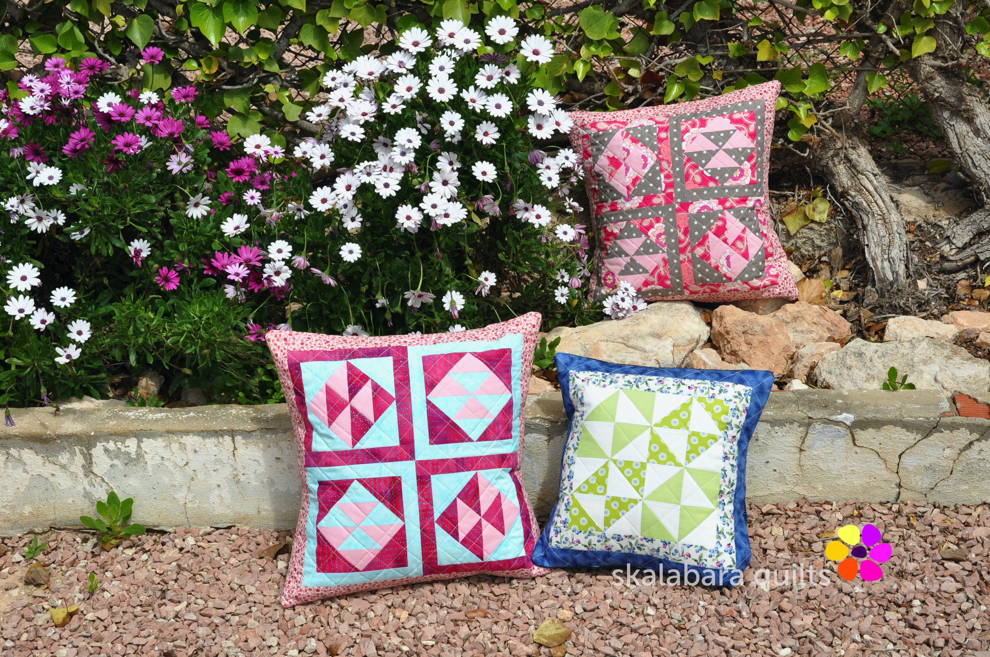broken dishes cushions 2 - skalabara quilts