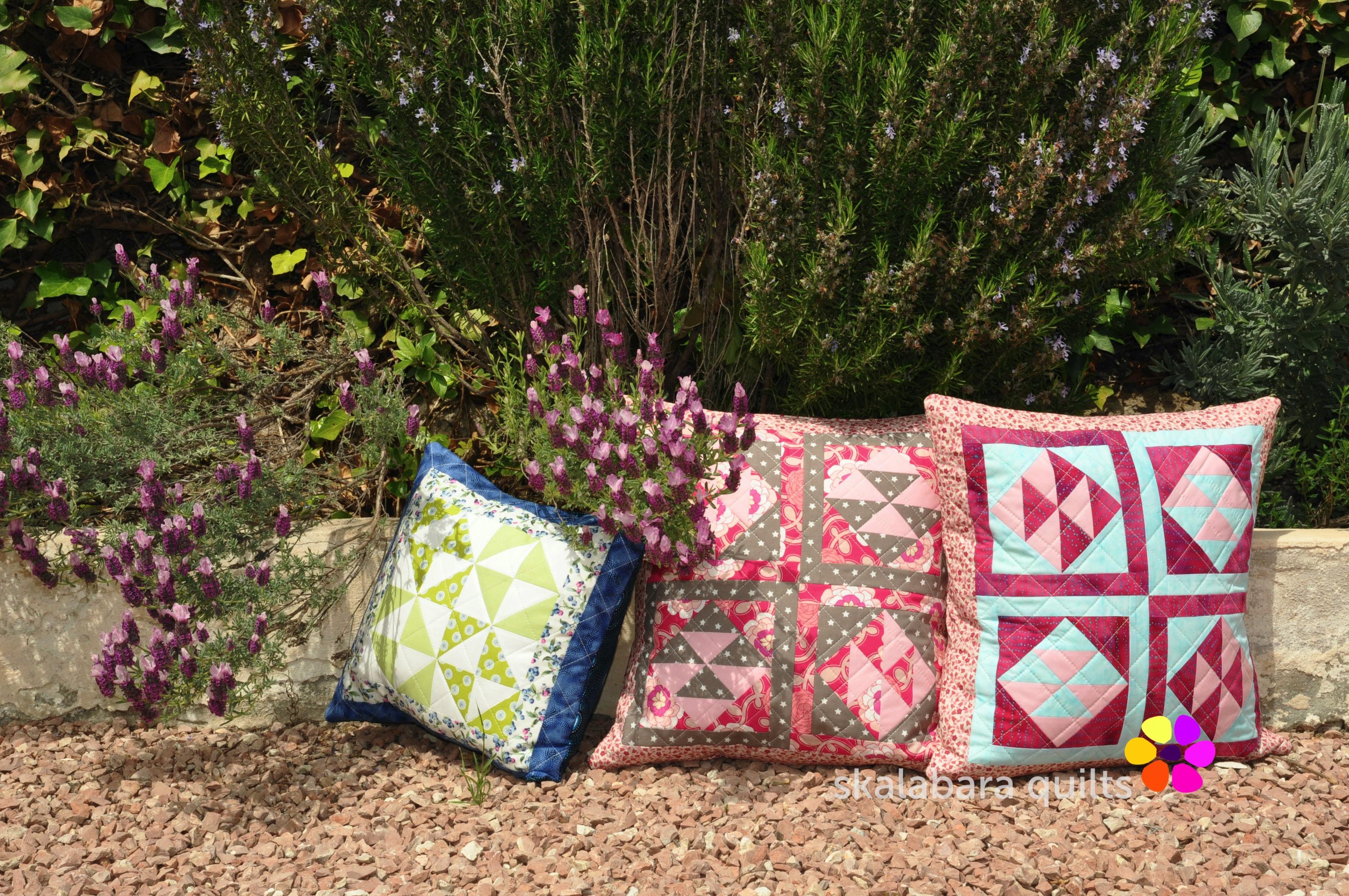 broken dishes cushions 4 - skalabara quilts