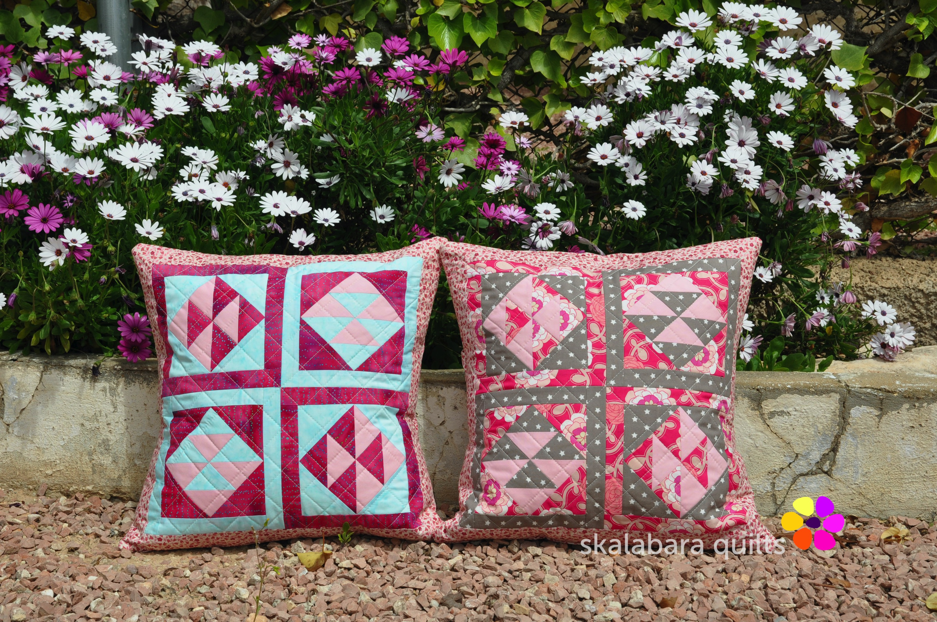 broken dishes cushions 5 - skalabara quilts
