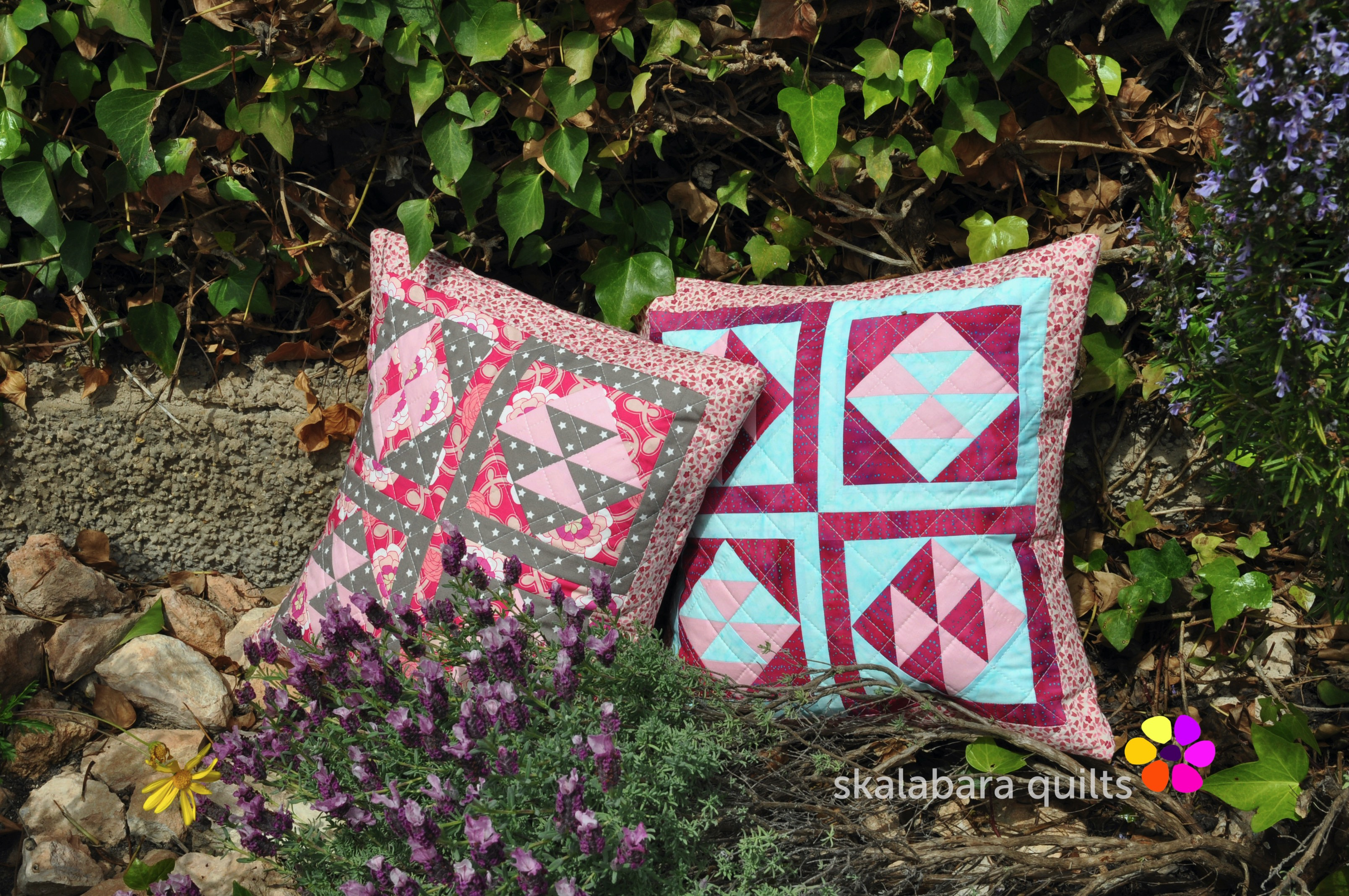 broken dishes cushions 7 - skalabara quilts