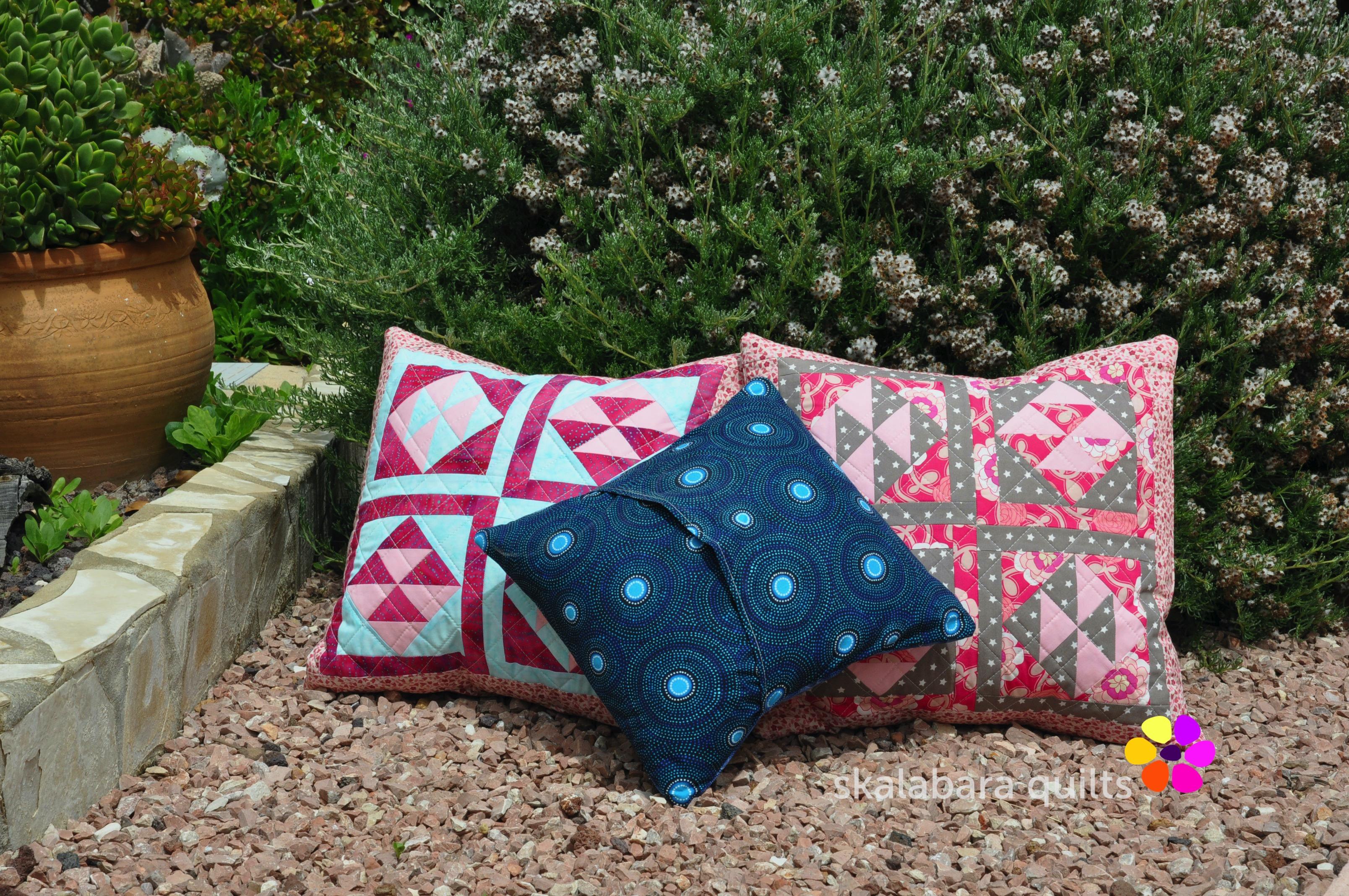broken dishes cushions backing 2 - skalabara quilts