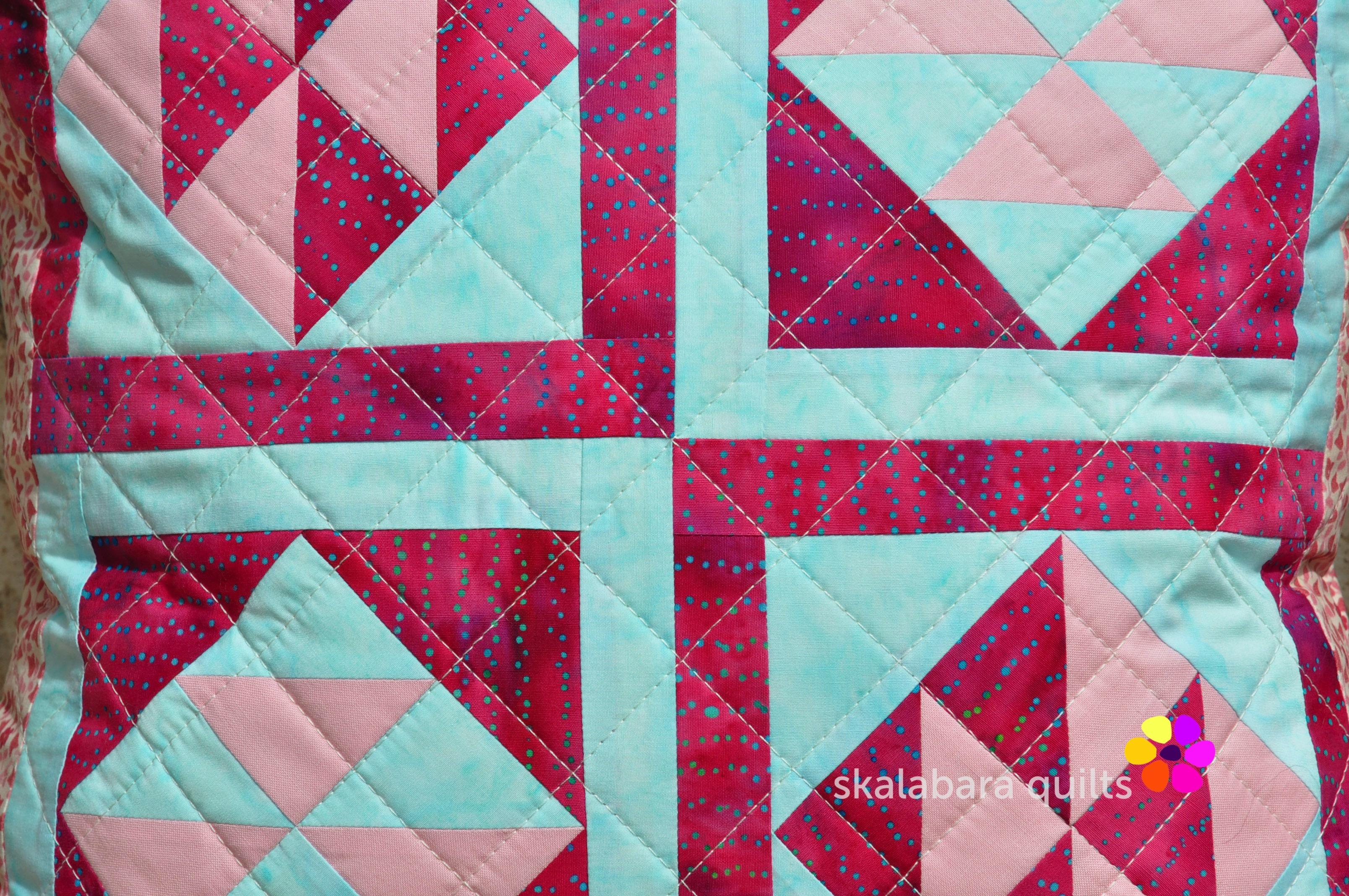 broken dishes cushions detail 1 - skalabara quilts
