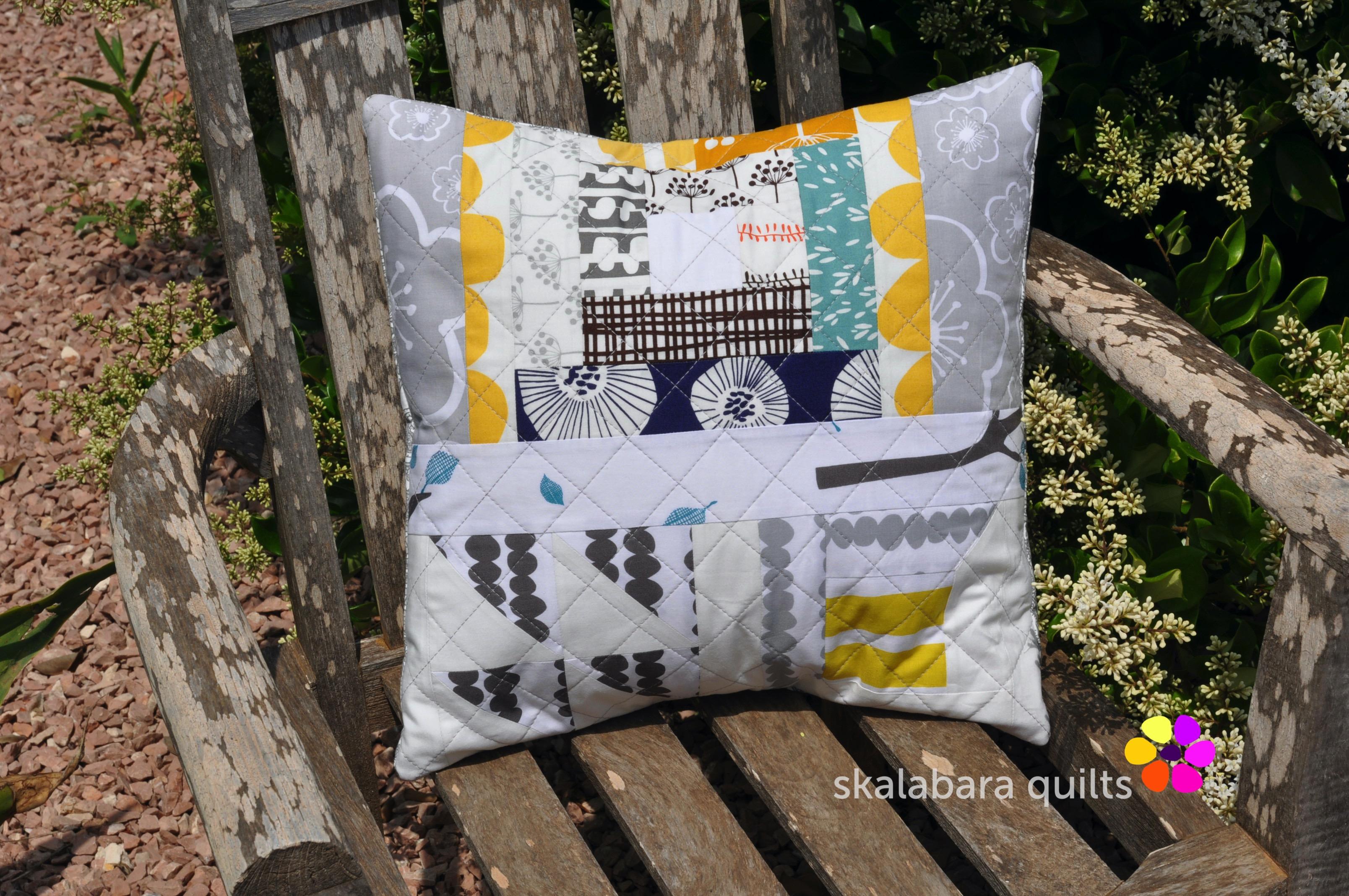 bella cushion cover mixed pattern 1 - skalabara quilts