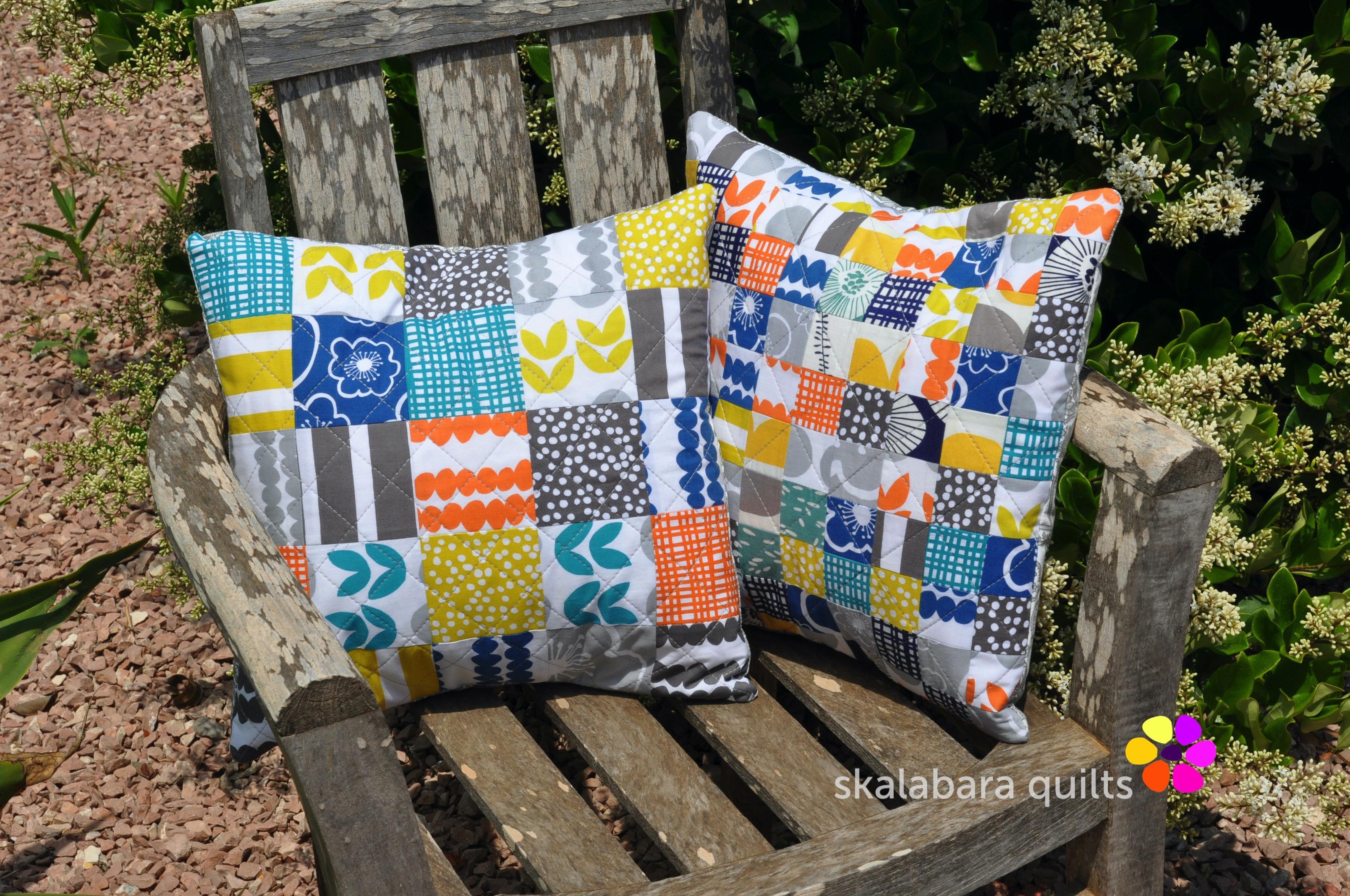 bella cushion covers squares 1 - skalabara quilts